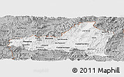 Gray Panoramic Map of Nueva Segovia
