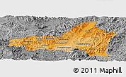 Political Shades Panoramic Map of Nueva Segovia, desaturated