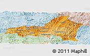 Political Shades Panoramic Map of Nueva Segovia, lighten