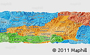 Political Shades Panoramic Map of Nueva Segovia