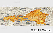 Political Shades Panoramic Map of Nueva Segovia, shaded relief outside
