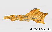 Political Shades Panoramic Map of Nueva Segovia, single color outside