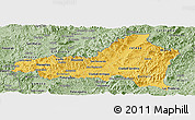 Savanna Style Panoramic Map of Nueva Segovia