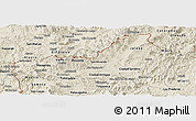 Shaded Relief Panoramic Map of Nueva Segovia