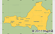 Savanna Style Simple Map of Nueva Segovia, cropped outside
