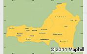 Savanna Style Simple Map of Nueva Segovia, single color outside