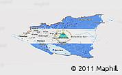 Flag Panoramic Map of Nicaragua
