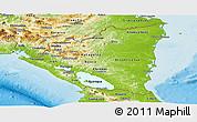 Physical Panoramic Map of Nicaragua