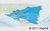 Political Shades Panoramic Map of Nicaragua, lighten