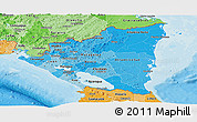 Political Shades Panoramic Map of Nicaragua