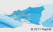 Political Shades Panoramic Map of Nicaragua, single color outside