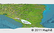 Satellite Panoramic Map of Nicaragua