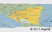 Savanna Style Panoramic Map of Nicaragua