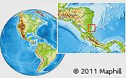 Physical Location Map of Regi.Auto.Atlant.Sur