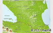 Physical 3D Map of Rio San Juan