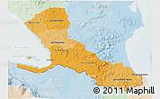 Political Shades 3D Map of Rio San Juan, lighten