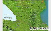 Satellite 3D Map of Rio San Juan