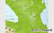 Physical Map of Rio San Juan