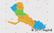 Political Map of Rio San Juan, cropped outside