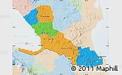 Political Map of Rio San Juan, lighten