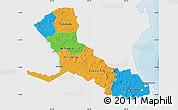 Political Map of Rio San Juan, single color outside