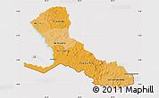 Political Shades Map of Rio San Juan, cropped outside