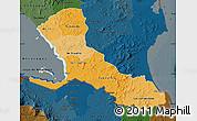 Political Shades Map of Rio San Juan, darken