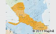 Political Shades Map of Rio San Juan, lighten