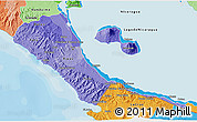 Political Shades 3D Map of Rivas
