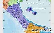 Political Shades Map of Rivas