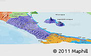 Political Shades Panoramic Map of Rivas