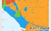 Political Simple Map of Rivas