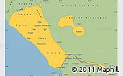 Savanna Style Simple Map of Rivas