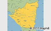 Savanna Style Simple Map of Nicaragua