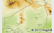 Physical 3D Map of Agadez