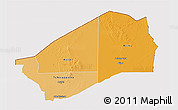Political Shades 3D Map of Agadez, cropped outside