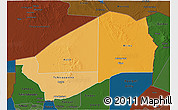 Political Shades 3D Map of Agadez, darken