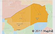 Political Shades 3D Map of Agadez, lighten