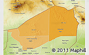 Political Shades 3D Map of Agadez, physical outside