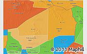 Political Shades 3D Map of Agadez