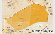 Political Shades 3D Map of Agadez, satellite outside