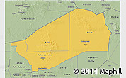 Savanna Style 3D Map of Agadez