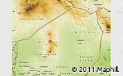 Physical Map of Agadez