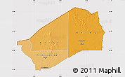 Political Shades Map of Agadez, cropped outside