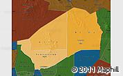Political Shades Map of Agadez, darken