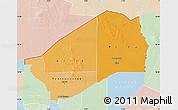 Political Shades Map of Agadez, lighten