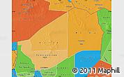 Political Shades Map of Agadez