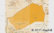 Political Shades Map of Agadez, satellite outside