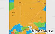 Political 3D Map of Diffa