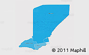 Political Shades 3D Map of Diffa, cropped outside